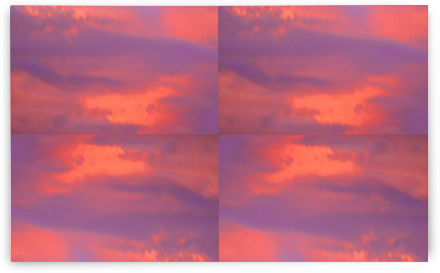 After the Thunderstorm:  Orange And Purple  by Sherrie Larch