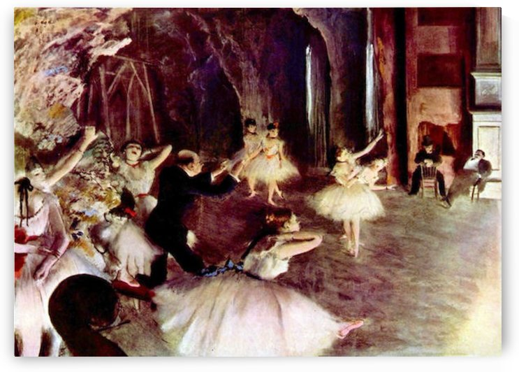 Stage trial by Degas by Degas