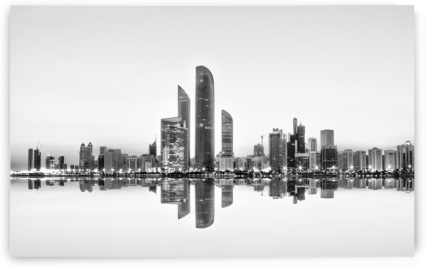 Abu Dhabi Urban Reflection by 1x