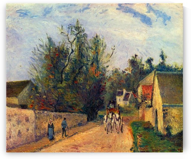 Stagecoach after Ennery by Pissarro by Pissarro