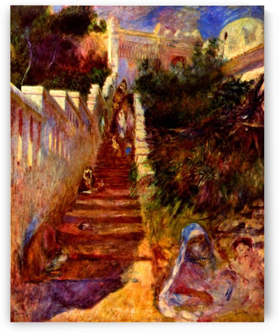 Stairs in Algier by Renoir by Renoir