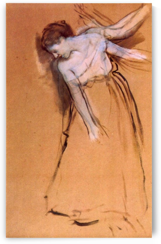Standing with arms stretched, bent to the side by Degas by Degas
