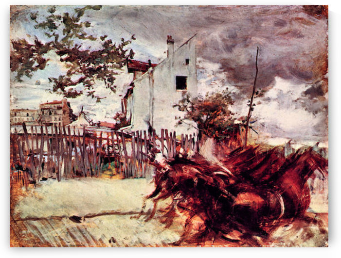 Outskirts of Paris by Giovanni Boldini by Giovanni Boldini