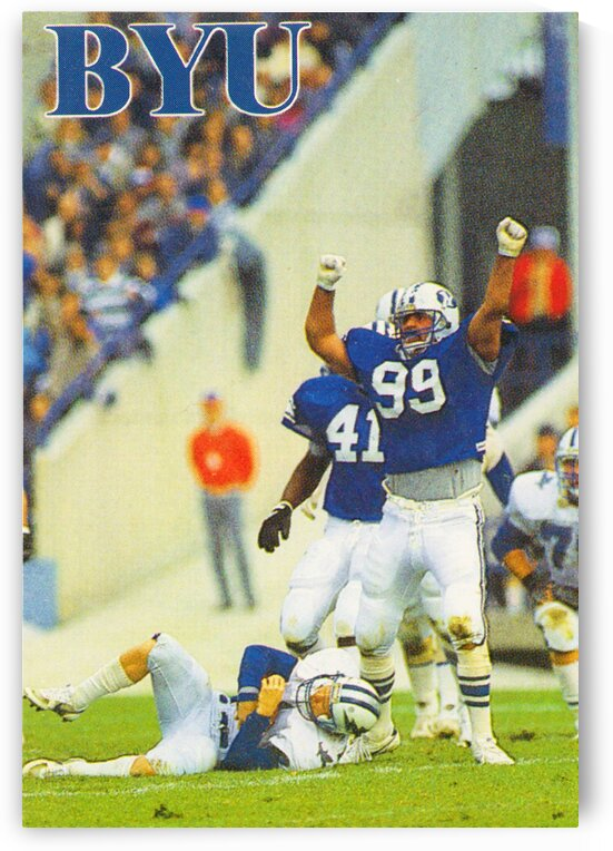1986 BYU Cougars Football Poster by Row One Brand