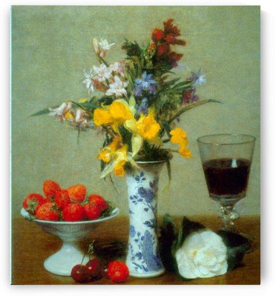 Still Life by Fantin-Latour by Fantin-Latour