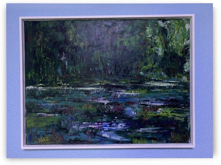 A swamp Concert  Acryl on Canvas 80x60  FRAMED  by SA Colour Creations