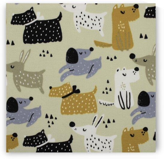 Dogs - Beige by Mutlu Topuz