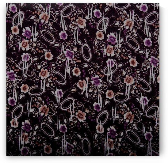 Florals - Black - Purple by Mutlu Topuz