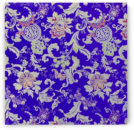 Chinese Brocade - Chinese garden - violet by Mutlu Topuz