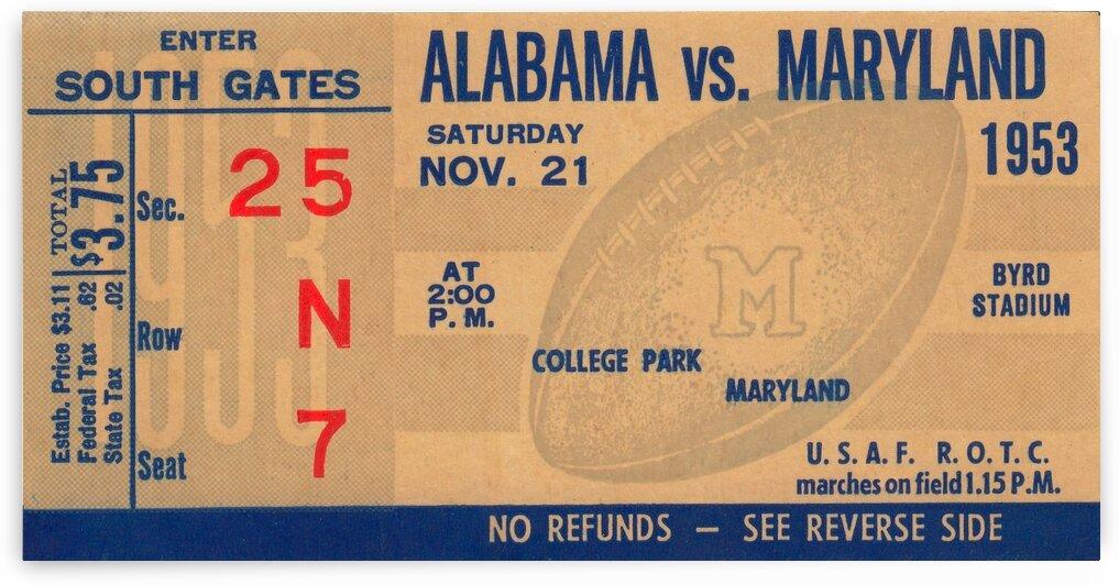 1953 Alabama vs. Maryland by Row One Brand