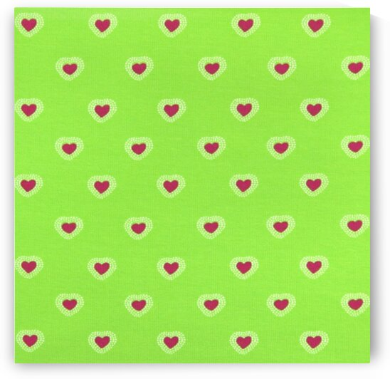 Hearts - Lime - Red by Mutlu Topuz