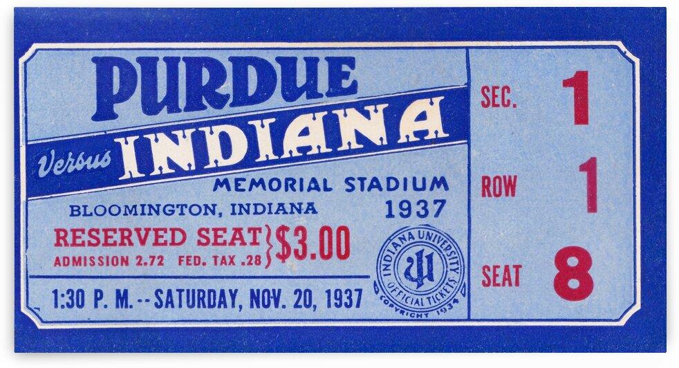 1937 Indiana vs. Purdue Ticket Stub Art by Row One Brand