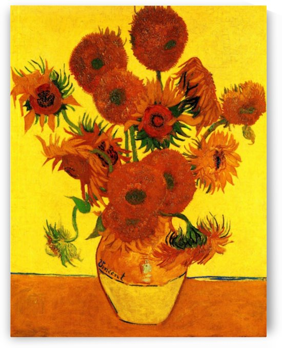 Still Life Vase with Fifteen Sunflowers3 by Van Gogh by Van Gogh
