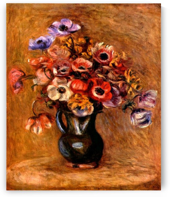 Still life with anemones by Renoir by Renoir
