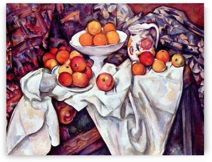 Still Life with Apples and Oranges by Cezanne by Cezanne