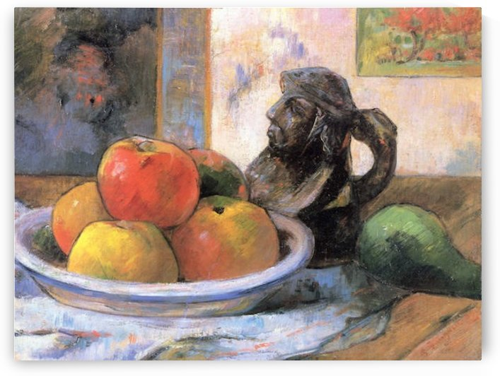 Still Life with Apples, Pears and Krag by Gauguin by Gauguin