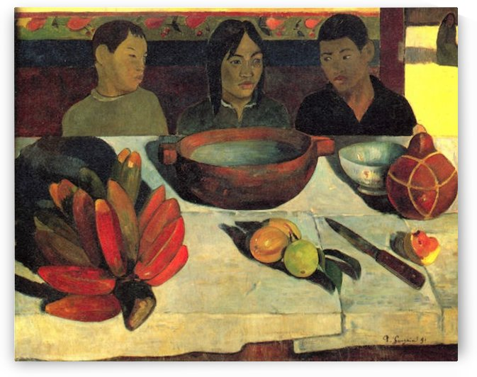 Still Life with Banana by Gauguin by Gauguin