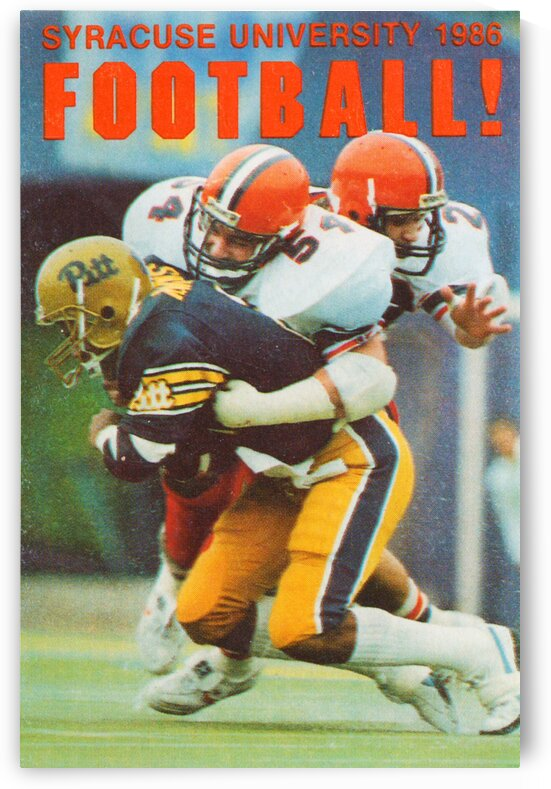1986 Syracuse Football Poster by Row One Brand