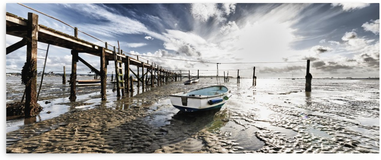 Stranded Boat at Low Tide by Adrian Brockwell
