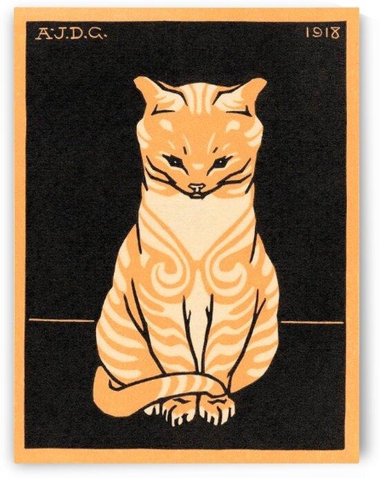 Sitting Cat by Mutlu Topuz