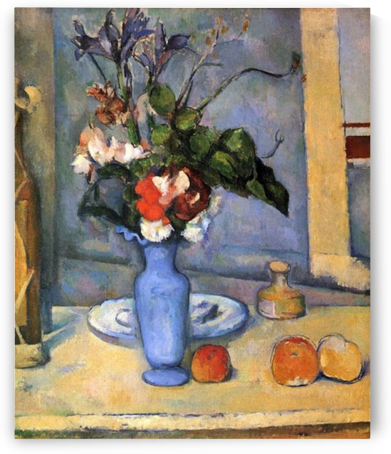 Still Life with Blue vase by Cezanne by Cezanne