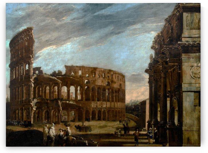 Colosseum and Arch of Constantine by Viviano Codazzi