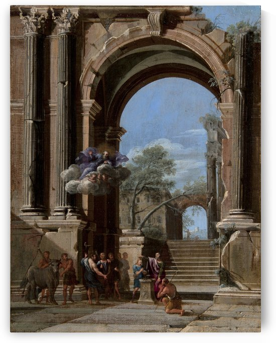 Saint Peter Baptizing the centurion and the Arch of Titus by Viviano Codazzi