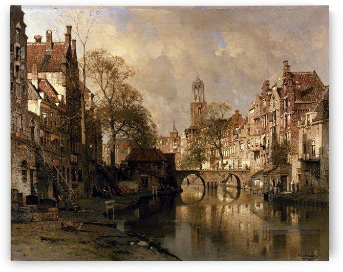 De oude gracht te Utrecht by Viviano Codazzi