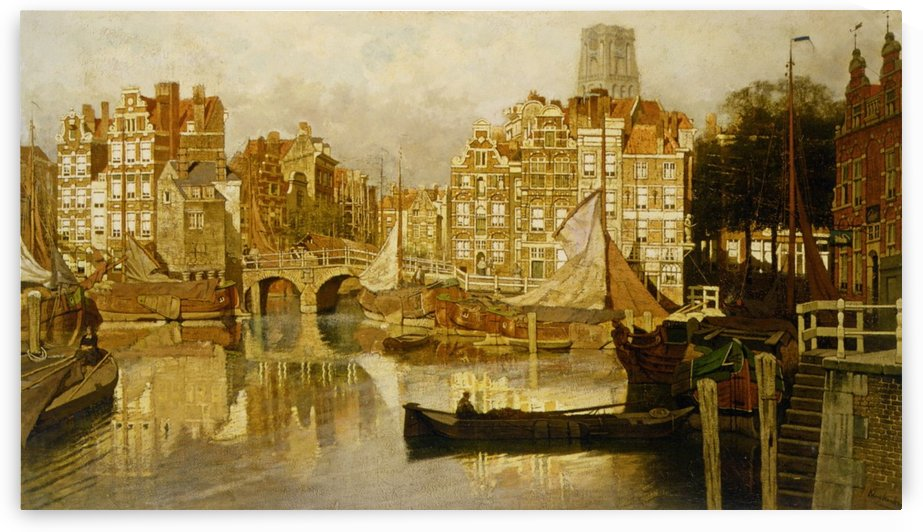 A view of the Blaak Rotterdam by Johannes Klinkenberg