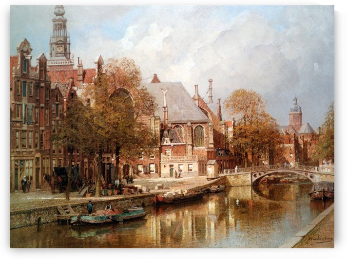 The Oude Kerk and Saint Nicolaaskerk by Johannes Klinkenberg