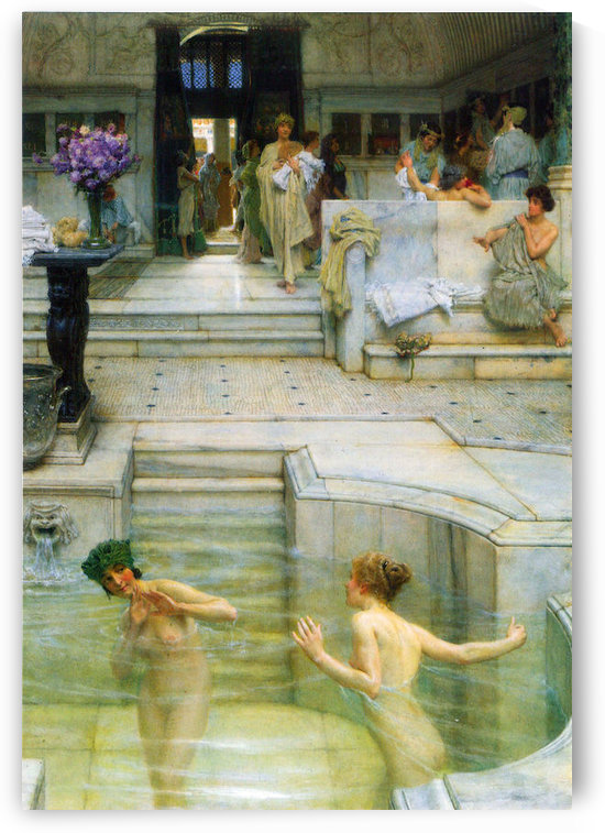 A favorite tradition by Alma-Tadema by Alma-Tadema
