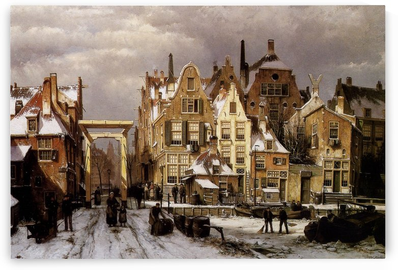 Winter City View by Johannes Klinkenberg