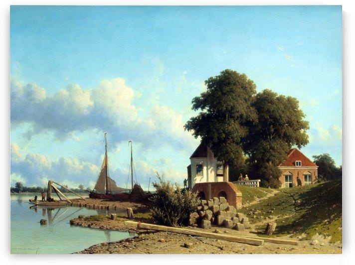 Aan de Lek bij Elshout by Johannes Klinkenberg