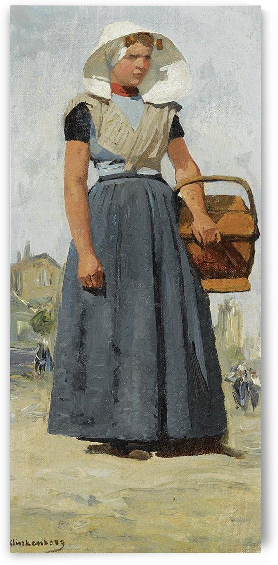 An Arnemuiden Fisherwoman by Johannes Klinkenberg