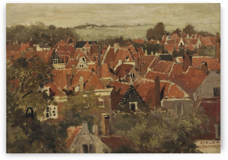 A view of a Dutch town by Johannes Klinkenberg
