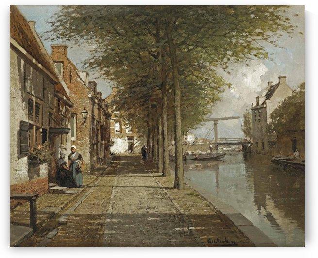 Grachtje te Oudewater by Johannes Klinkenberg
