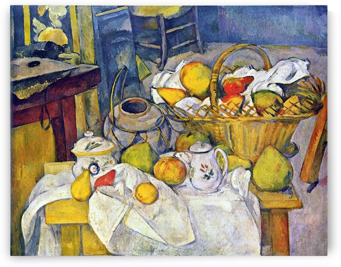 Still Life with Fruit Basket by Cezanne by Cezanne