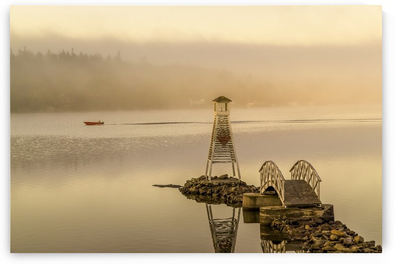 The lighthouse of Lac Trois-Saumons in Quebec by Daniel Ouellette