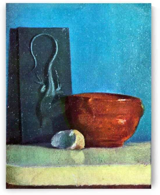 Still Life with lizard by Degas by Degas