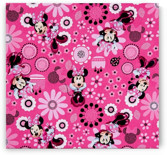 Disney Minnie Bowtique Cotton Minnie Allover Pink by Mutlu Topuz