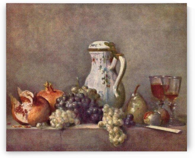 Still life with porcelain jug by Jean Chardin by Jean Chardin