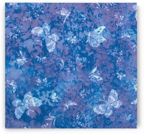 Tossed Butterflies Blue by Mutlu Topuz