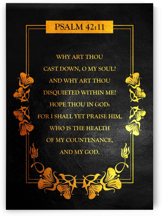 Psalm 42:11 Bible Verse Wall Art by ABConcepts