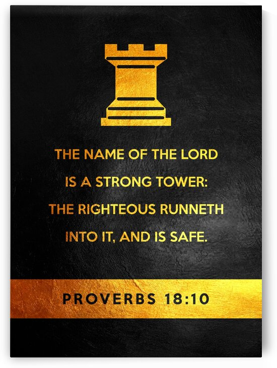 Proverbs 18:10 Bible Verse Wall Art by ABConcepts