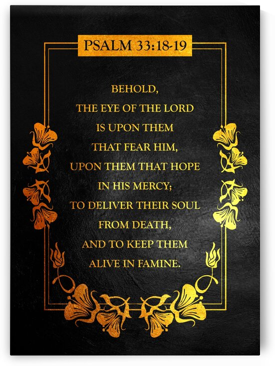 Psalm 33:18 Bible Verse Wall Art by ABConcepts