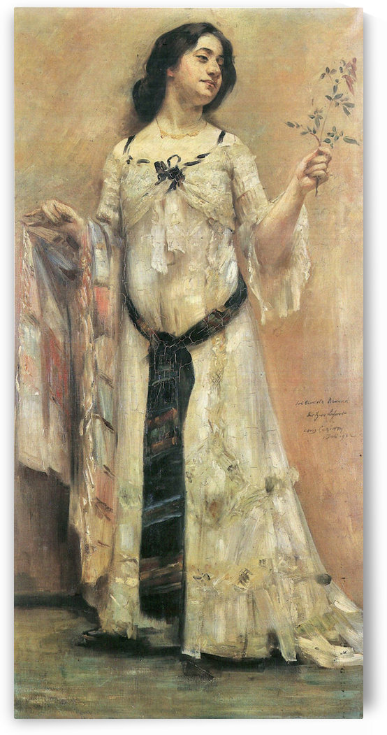 Portrait of Charlotte Berend in a white dress by Lovis Corinth by Lovis Corinth