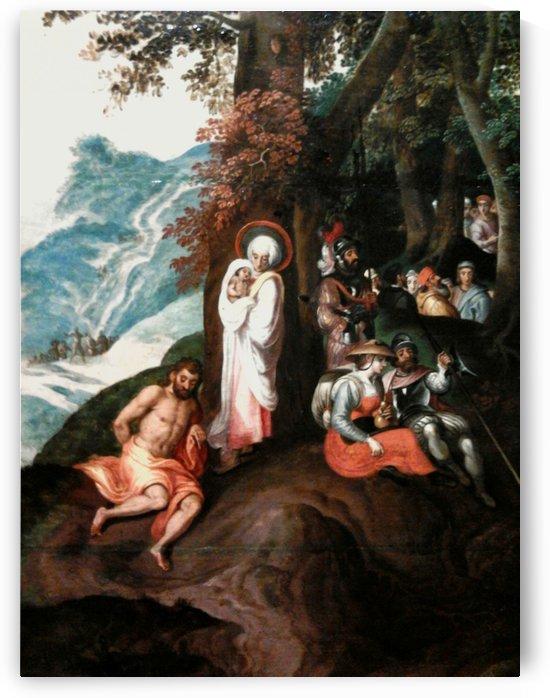 Landscape with Saint John preaching by Gillis Mostaert