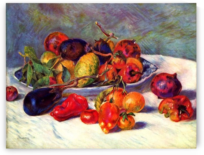 Still life with tropical fruits by Renoir by Renoir