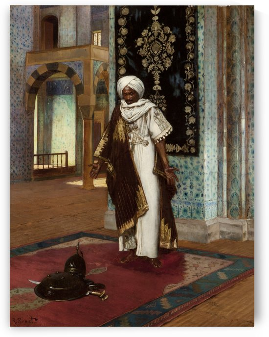 Praying for victory by Rudolf Ernst