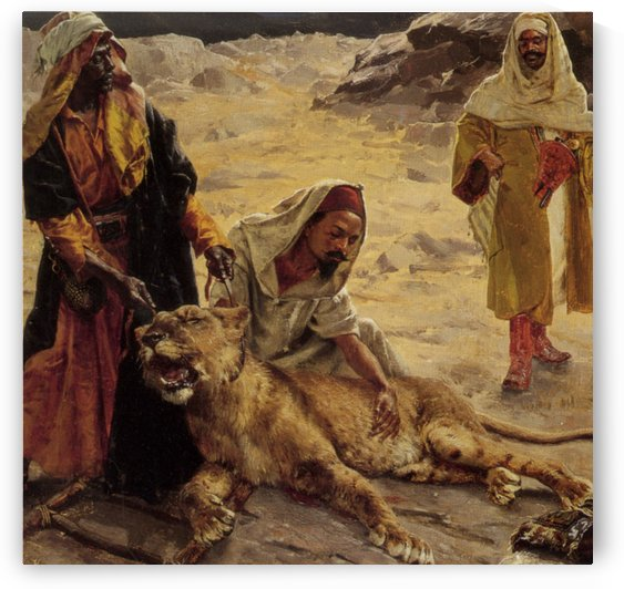 Captured Lion by Rudolf Ernst